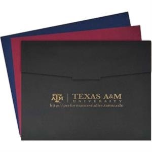 "Heavy-weighted Texture Paper 3-fold Presentation Folder, Holds 11""x8 1/2"" Or 10""x8"""