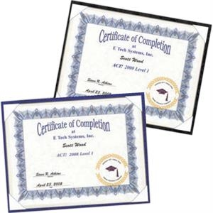 Certificate Holder With Easel On Back To View Landscape Or Portrait. Blank Product