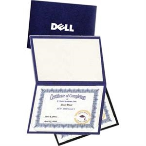 Book Like Leatherette Certificate Holder With Padded Front Cover