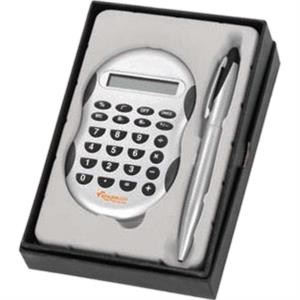 Two Piece Desk Gift Set With Calculator And Pen Set
