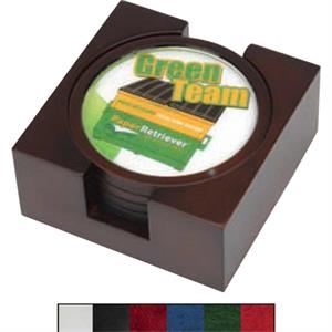 Cambridge - 4 Piece Wooden Coaster Set With A Full Color Insert And Lay-flat Base