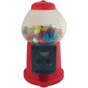 Mini Plastic Gumball Machine With 1.4 Oz. Of Assorted Fruit Flavored Gumballs