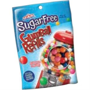 16 Oz. Bag Of Sugar Free Gumballs. Blank