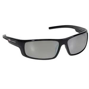 Provizgard - Contemporary Style Safety Glasses With Silver Mirror Lens And Black Frame