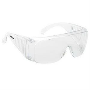 Provizgard - Clear Lens And Frame - Large Frame Single-piece Lens Safety Glasses
