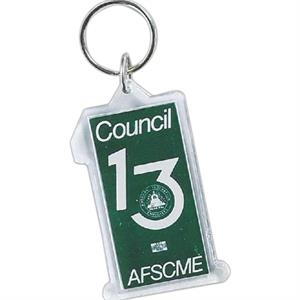 Number One - Acrylic Key Tag For Every Promotional Need