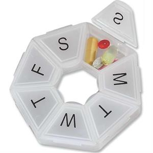 Heptagon Seven Day Pill Box With Days Of The Week Preprinted