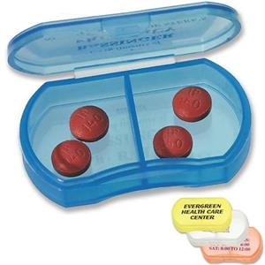 Compact Oblong Pill Box With Two Compartments