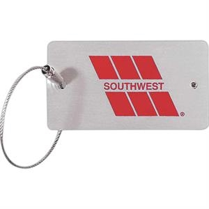 Metal Luggage Tag With Security Closure For Privacy