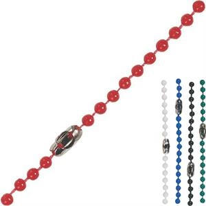 "Plastic 38"" Beaded Chain With Metal Connector. Blank Item Only"