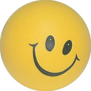 "Happy Face Stress Reliever Ball, 2 3/4"" Diameter"
