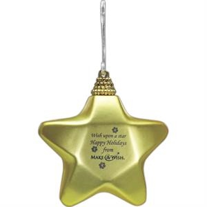 Gold Stain Finish Star Ornament