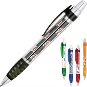 Ballpoint Pen With Clear Barrel And Full Color Paper Insert