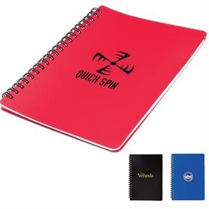 Spiral Notebook With Transparent Zippered Pouch