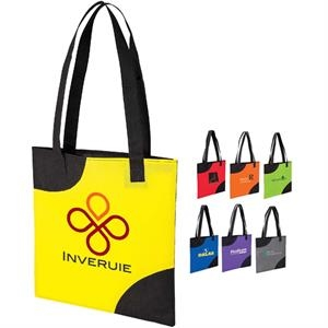 Slim Tote Bag With Black Cut-away Design