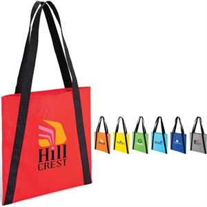 Accent Tote Bag With Reinforced Handles