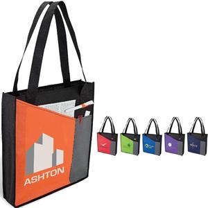 Tote Bag With Wide Front Pocket And Pen Loop