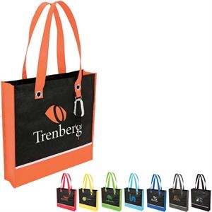 Color Accent Tote Bag With Metal D-ring