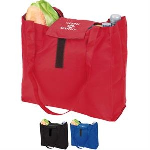 Eco-lifestyle (tm) - Folding Grocery Tote Bag With Carabiner