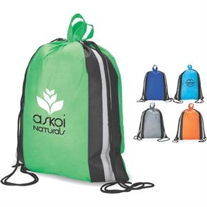 Eco-lifestyle (tm) - Recyclable Drawstring Shopper/sport Bag Made From Non-woven Material