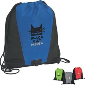 2-tone Drawstring Sport Bag With Plastic D-ring