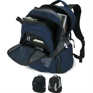 Backpack With Large Zippered Front Compartment And Padded Carry Handle