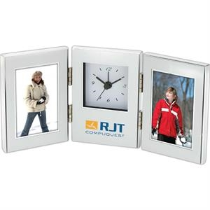 Dual Photo Frame And Clock