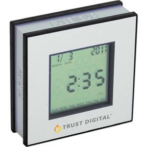 Quad Display Clock With Calendar, Thermometer And Countdown Timer