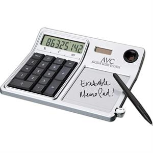 Desktop Solar Calculator And Erasable Memo Pad