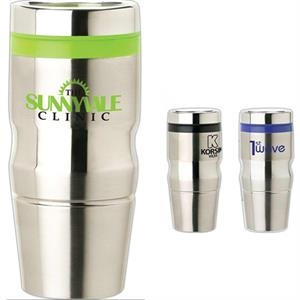 14 Oz Stainless Steel Tumbler With Plastic Liner