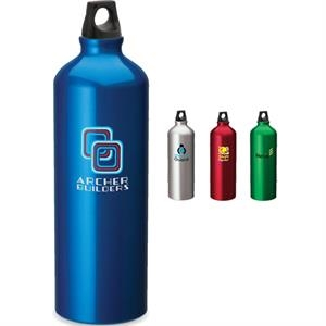 One Liter Aluminum Sport Flask With Twist Top