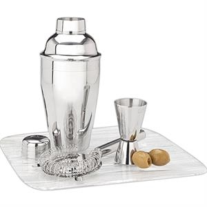 Martini Shaker Set With Jigger And Strainer