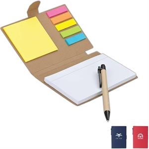 Eco-lifestyle (tm) - Recycled Pen, Note And Flag Set