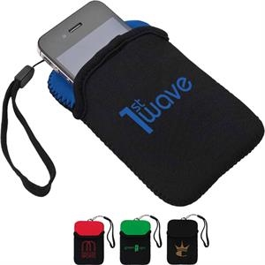 Neoprene Accessory Case With Wrist Strap