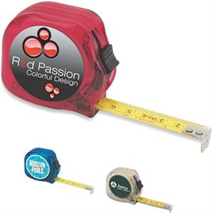 Translucent Tape Measure With Power Lock And Belt Clip, 12'