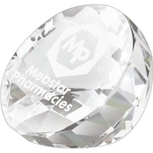 Crystal Award Shaped Like A Flat Cut Diamond