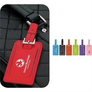 Genuine Leather Luggage Spotter Tag With Address Card