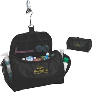Toiletry Bag With End Handle And Hanging Swivel Hook