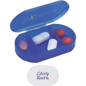 Pill Holder With 3 Compartments