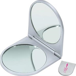 Double Mirror With One Standard Mirror And One Magnifying Mirror