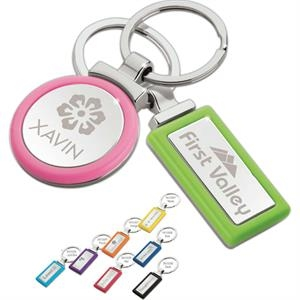 Rectangle Shape Keyring With Vibrant Color