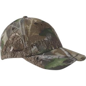 Authentic Wildlife Series (tm) - Camouflage Cap With Turkey Realtree (r) Hardwoods Green Hd (r) Pattern
