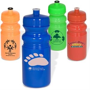 Polyclear (tm) Eco-responsible (tm) - Biodegradable Eco Safe Small 20 Oz. Water Bottle, Shatterproof, Push/pull Spout