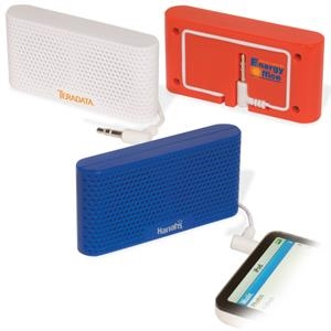 Miniature Stereo Speaker Set For Use With Any Personal Entertainment Device