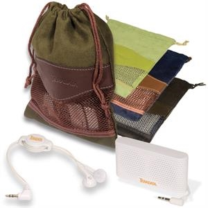 Woodbury Leeman New York Collection - Entertainment Combo With Pouch, Earbuds And Mini Speaker