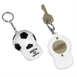 Soccer Bottle Opener And Keychain In One
