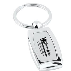 Polished Chrome Key Tag
