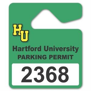 Laminated Paper Parking Permit Hang Tag