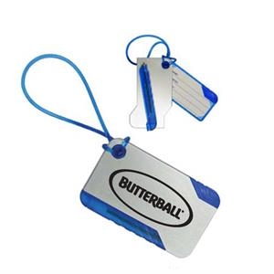 Luggage Tag With Pen That Fully Conceals Address