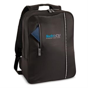 The City - Embroidery - Computer Case With Trim Profile In Durable Microfiber, Pockets For Cord Management